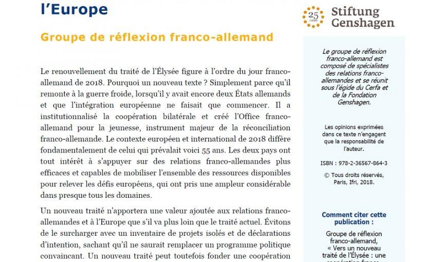 Code européen de droit des affaires / « Vers un nouveau traité de l'Elysée : une coopération franco-allemande plus substantielle au service de l'Europe »