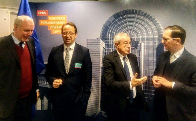 Vorstellung des Projektes Europäisches Wirtschaftsgesetzbuch im Europäischen Parlament / Brüssel / 20 November 2018