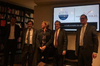 Le code européen de droit des affaires : Conférence du Cercle Montesquieu le 17 avril 2017