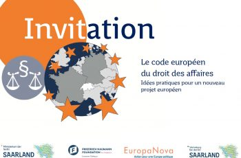 Le code européen du droit des affaires Idées pratiques pour un nouveau projet européen, le 25 juin 2019 à Bruxelles