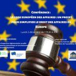 conference-debat-code europeen-des-affaires-2 decembre-2019-talence