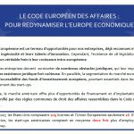le-code-europeen-des-affaires-pour-redynamiser-l-europe-economique