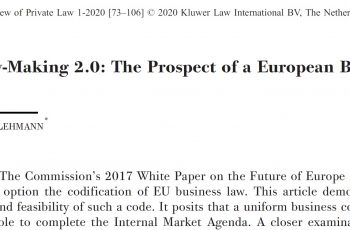 Matthias Lehmann : Législation 2.0
