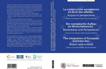 Valéry Giscard d'Estaing et le projet de Code européen des affaires