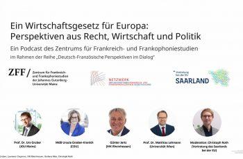 L'Université de Mayence a organisé le 21 janvier 2021 un podcast en allemand sur le projet de Code européen des affaires